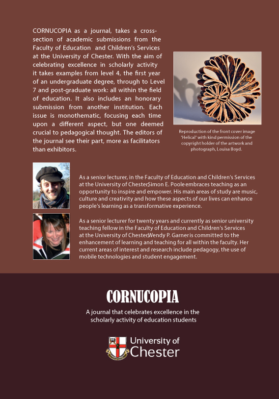 Cornucopia - Issue 2: A Journal That Celebrates Excellence In The Scholarly Activity Of Education Students