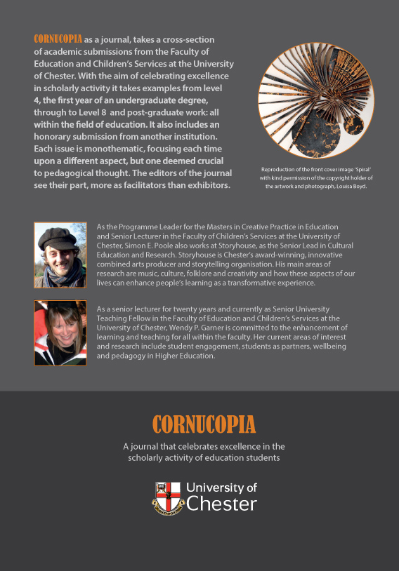 Cornucopia - Issue 3: A Journal That Celebrates Excellence In The Scholarly Activity Of Education Students