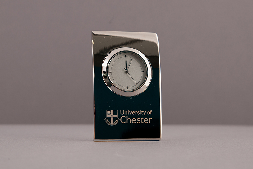 Silver Pillow Clock