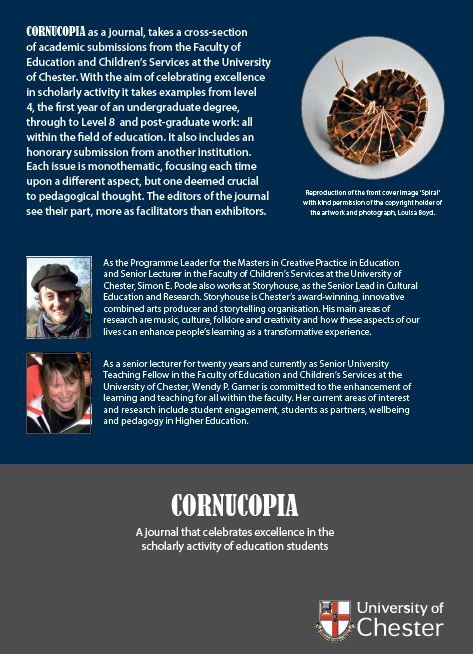 Cornucopia - Issue 4: A Journal That Celebrates Excellence In The Scholarly Activity Of Education Students